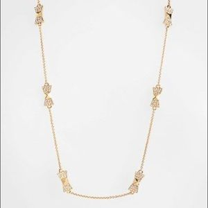 Long signature bow Kate Spade necklace